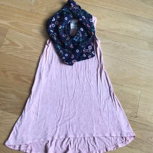 Girl's dress pink scarf size 7